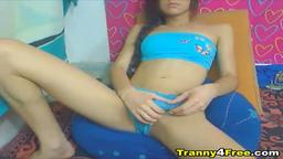 Sexy Tranny Jerks her Cock