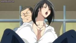 Peituda hentai professora fodida no banheiro