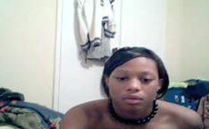 Novinha  gostosa negra gostosa na webcam nua