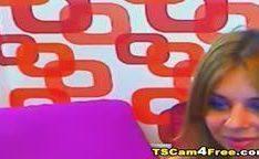 Travest vadia sozinha na webcam