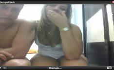 Brasileira Dany caiu na net chupando na web