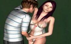 Hentai 3D com ninfeta prostituta