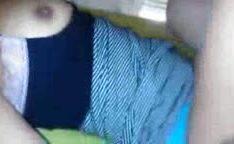Morena transando com namorado de calcinha azul