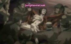 Hentai garota levando estupro grupal
