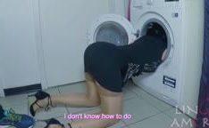 Enteado estuprada madrasta presa na máquina de lavar