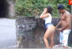 Casal carioca transando no túnel