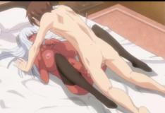 Peituda virgem agradece de um jeito especial hentai